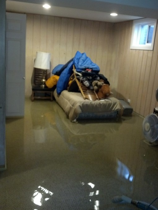 Basement Bedroom in Denver Home Under Water